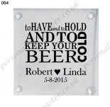 custom glass wedding coaster we