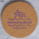 sale custom cork coaster weddin