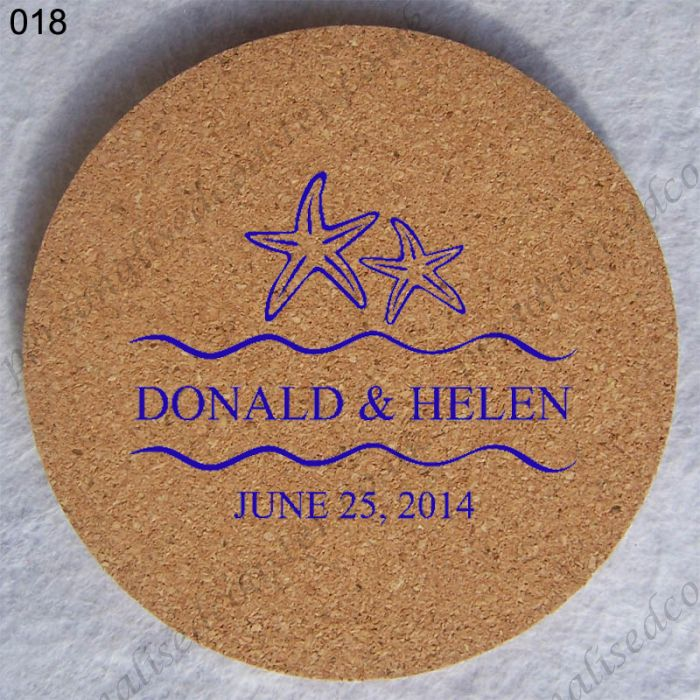 sale custom cork coaster wedding coaster 018
