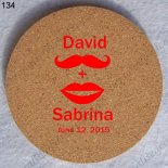 wedding gift best selling custom made round cork coasters 134