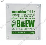 glass coasters wedding decorati