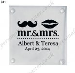 glass wedding favor coasters wh
