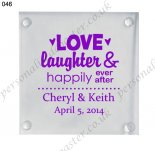 wedding favors personalzied gla