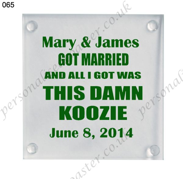 wedding favor custom drink glass coasters 065
